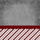 Sucrerie rayée de gris, rouge et blanche Cane Striped Grunge Background Image libre de droits