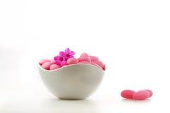 Sucrerie rose Images libres de droits