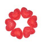 Sucrerie rouge dans la forme de coeur Image stock