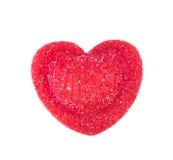 Sucrerie rouge dans la forme de coeur Photo libre de droits