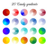 Sucrerie Tone Color Shade Background, mailles colorées de gradient illustration stock