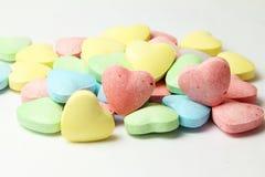 Sucrerie Valentine Background de coeur à l'arrière-plan blanc Image stock