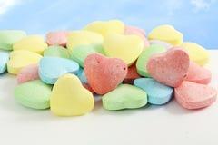 Sucrerie Valentine Background de coeur à l'arrière-plan de ciel Photos libres de droits