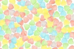 Sucrerie Valentine Background de coeurs Image libre de droits