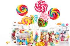 Sucreries avec la gelée et le sucre choix coloré de différents bonbons et festins à childs image libre de droits