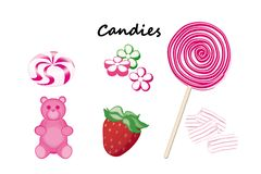 Sucreries colorées Illustration Stock