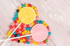 Sucreries colorées image libre de droits