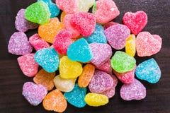 Sucreries colorées de cube en gelée Images stock