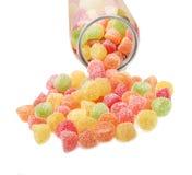 Sucreries colorées de gelée de fruit Image libre de droits