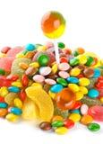 Sucreries colorées mélangées photos libres de droits