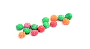 Sucreries colorées de gelée avec la saveur de fruit Images libres de droits