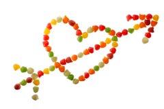 Sucreries dans la forme d'amour Images stock