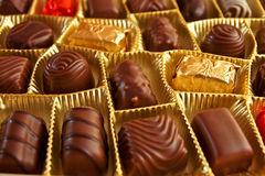 Sucreries de chocolat photos libres de droits