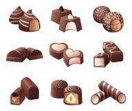 Sucreries de chocolat Photographie stock libre de droits