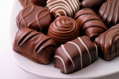 Sucreries de chocolat Photos stock