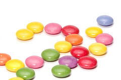 Sucreries de chocolat colorées Photos libres de droits