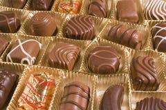 Sucreries de chocolat dans un cadre Images libres de droits