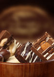 Sucreries de chocolat sucré photos libres de droits