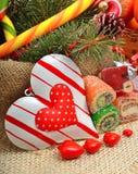 Sucreries de chocolats formées par amoureux d'amour Images libres de droits