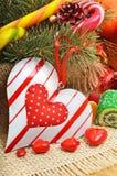 Sucreries de chocolats formées par amoureux d'amour Photographie stock