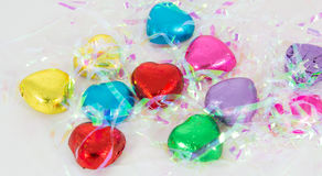 sucreries de coeurs de chocolat Images libres de droits