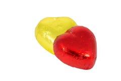 sucreries de coeurs de chocolat Photo stock