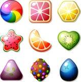 Sucreries de fruit illustration stock