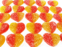 Sucreries de fruit sous forme de coeur. Photo stock