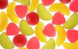Sucreries de fruit sur un fond blanc. Images stock