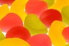 Sucreries de fruit sur un fond blanc. Images libres de droits