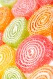 Sucreries de fruit sur un fond blanc. Image stock