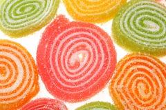 Sucreries de fruit sur un fond blanc. Image libre de droits