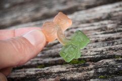 sucreries de gelée sous forme d'ours pour Halloween dessus Photographie stock libre de droits
