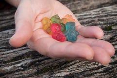 sucreries de gelée sous forme d'ours pour Halloween dessus Photo stock
