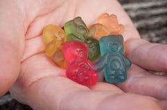 sucreries de gelée sous forme d'ours pour Halloween dessus Photo libre de droits