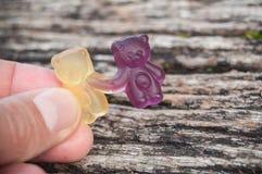 sucreries de gelée sous forme d'ours pour Halloween dessus Images stock
