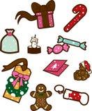 Sucreries de Noël Photos libres de droits