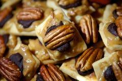 Sucreries de noix de pécan et de chocolat Photographie stock libre de droits