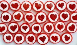 Sucreries de sucre douces rouges comme fond Photographie stock