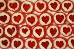 Sucreries de sucre douces rouges comme fond Images stock