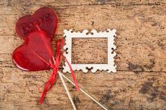 Sucreries en forme de coeur Photographie stock