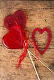 Sucreries en forme de coeur Image libre de droits