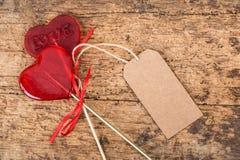 Sucreries en forme de coeur Photo stock