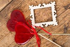 Sucreries en forme de coeur pour la valentine Photographie stock