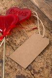 Sucreries en forme de coeur pour la valentine Photographie stock libre de droits