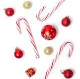 Sucreries et boules de Noël Photo libre de droits