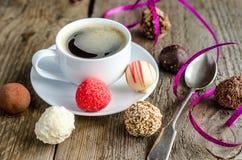 Sucreries et café Photos libres de droits