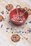 Sucreries et gâteaux aux pépites de chocolat Photographie stock