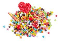 Sucreries et lucettes colorées Photographie stock libre de droits