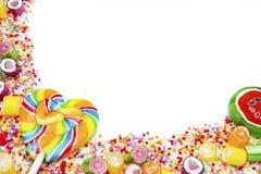 Sucreries et lucettes colorées Image stock